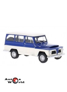 Macheta auto Jeep Willys Rural 1968, 1:43 Whitebox