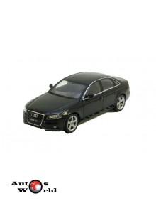 Macheta auto Audi A4 negru 2008, 1:24 Welly