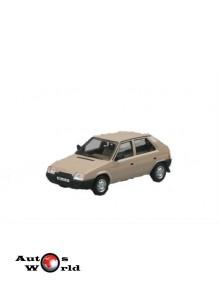 Macheta auto Skoda Favorit 136L 1987 crem, 1:43 Abrex