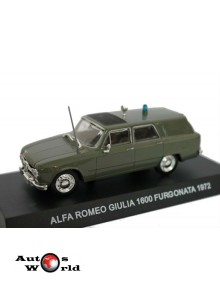 Macheta auto Alfa Romeo Giulia 1600 furgoneta 1972, 1:43 Deagostini