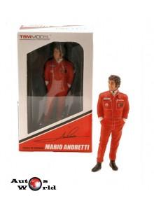 Figurina Mario Andretti, 1977 Team Lotus, 1:18 TSM