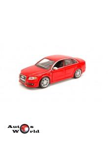 Macheta auto Audi A4 RS 2005 rosu, 1:24 Bburago