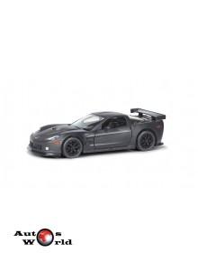 Macheta auto Chevrolet Corvette C6.R negru mat 5 inch, 1:32-36 RMZ City