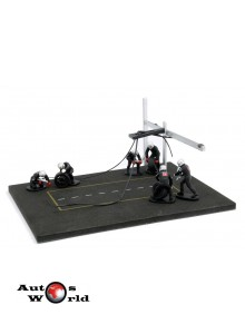 Accesorii: Diorama PitStop + 6 figurine, 1:43 Ixo