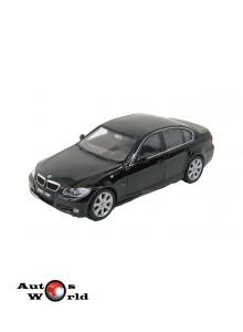 Macheta auto BMW 330i 3-serie negru 2004, 1:24 Welly