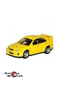 Macheta auto Mitsubishi Lancer EVO VI galben, 1:72 Cararama