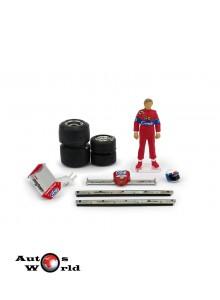 Figurina Didier Pironi 1982 + Accesorii, 1:43 Brumm