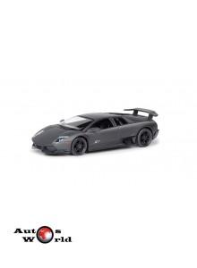 Macheta auto Lamborghini Murcielago LP670-4 SV negru mat 5 inch, 1:32-36 RMZ City