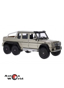 Macheta auto Mercedes G63 AMG 6x6 bej, 1:24 Welly ...