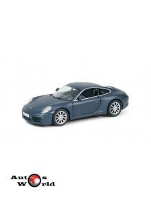 Macheta auto Porsche 911 Carrera s albastru mat  5 inch, 1:32-36 RMZ City