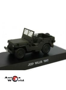 Macheta auto Jeep Willys Carabinieri 1947, 1:43 Deagostini