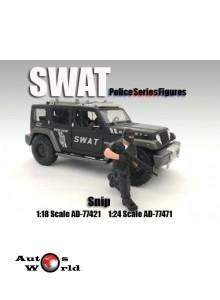 """Figurina """"Swat Team"""" Sniper, 1:18 American Diorama"""
