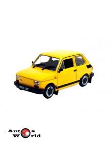 Fiat 126p galben, 1:43 Deagostini/IST
