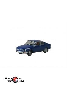 Macheta auto Skoda 110R Coupe albastru, 1:43 Abrex