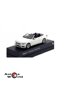 Macheta auto BMW 4 Series Cabriolet (F33) 2013 alb, 1:43 Paragon