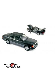 Macheta auto MERCEDES-BENZ 300 CE Cabrio (1990) 1:18 negru Norev