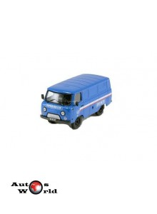 Macheta auto UAZ 3741, blue, Post of Russia, 1:43 Deagostini/IST ...