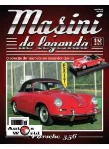 Masini De Legenda Nr.18 - Macheta auto Porsche 356 B Cabrio 1959, 1:43 Amercom