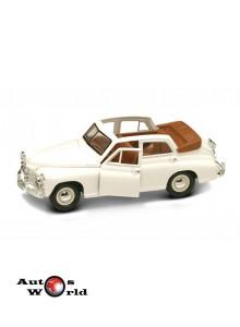 Macheta auto Gaz M20 Pobeda convertible alb 1948, 1:24 Lucky Diecast