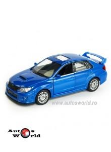 Macheta auto Subaru WRX Sti albastru 4 inch, 1:43 RMZ City
