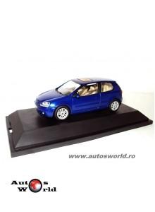 Volkswagen golf 5 3-usi albastru 2003, 1:43 Schuco