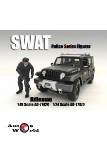 "Figurina ""Swat Team"" Rifleman, 1:18 American Diorama"