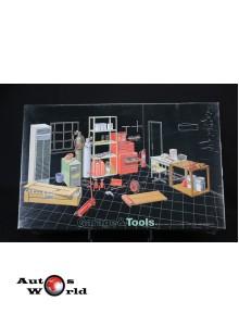 Accesorii Set unelte/ mobilier atelier, 1:24 Fujimi
