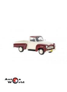 Macheta auto Chevrolet 3100 rosu/alb, 1:43, Whitebox