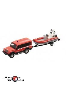 Iveco Massif Pompieri Spania+ remorca salupa, 1:43 Mondo Motors