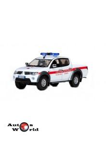 Macheta auto Mitsubishi L200 Politie Italia 2010, 1:43 Vitesse