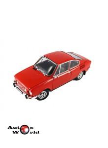Macheta auto Skoda 110R coupe 1980 rosu, 1:18 Abrex