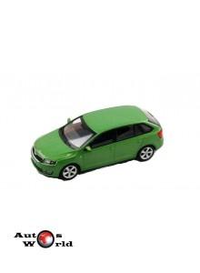 Macheta auto Skoda Rapid Spaceback verde, 1:43 Abrex
