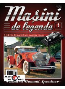 Masini De Legenda Nr. 4 - Macheta auto Packard Boattail Speedster 1930, 1:43 Amercom
