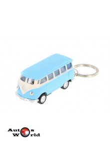 Breloc Volkswagen Samba Bus albastru 1962, 1:64 Kinsmart
