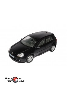 Macheta auto Volkswagen Golf V negru, 1:18 Welly