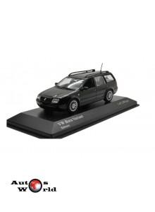 Macheta auto Volkswagen Bora Variant 1999 negru, 1:43 Minichamps