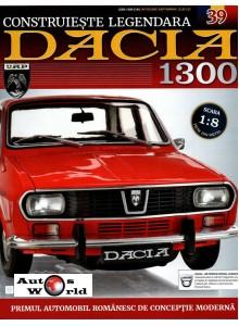 Macheta auto Dacia 1300 KIT Nr.39 - elemente schimbator scara 1:8 Eaglemoss