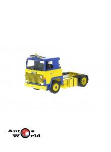 Macheta camion Scania LBT 141 galben/albastru 1976, 1:43 Ixo