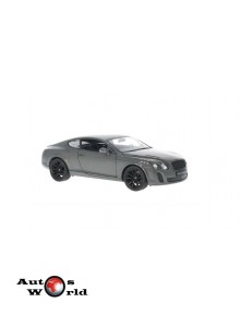 Macheta auto Bentley Continental gri, 1:24, welly