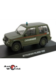 Macheta auto Mitsubishi Pajero 4X4 Carabinieri 1998, 1:43 Deagostini