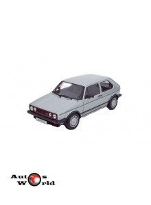 Macheta auto Volkswagen Golf Gti I gri, 1:18 Welly
