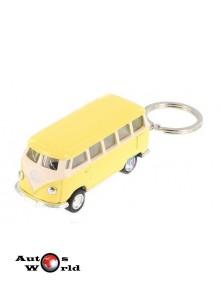 Breloc Volkswagen Samba Bus galben 1962, 1:64 Kinsmart
