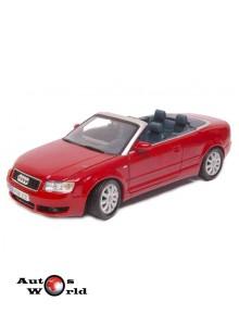 Macheta auto Audi A4 cabrio rosu 2004, 1:18 Motormax