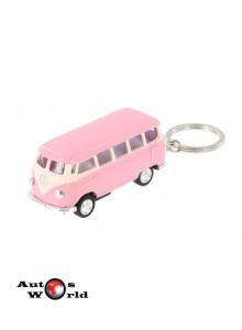 Breloc Volkswagen Samba Bus roz 1962, 1:64 Kinsmart