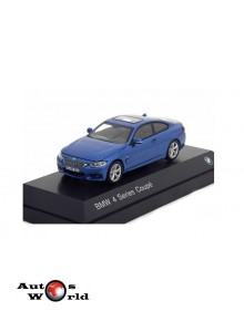 Macheta auto BMW 4 Series Coupe (F32) 2013 albastru, 1:43 Paragon