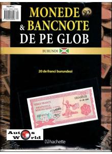 Monede Si Bancnote De Pe Glob Nr.92 - 20 franci burundezi, Hachette