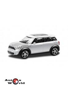 Macheta auto Mini Cooper Countryman alb 4 inch, 1:43 RMZ City