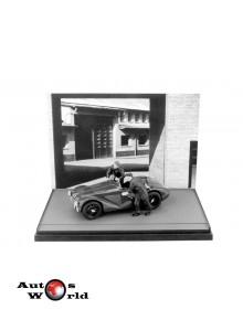 Macheta auto Ferrari 125 1947+2 mecanici alb/negru, 1:43 Brumm
