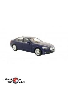 Macheta auto BMW 535i (F10) albastru, 1:24 Welly