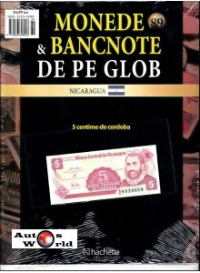 Monede Si Bancnote De Pe Glob Nr.89 - 5 centime de cordoba , Hachette